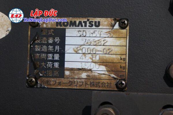 Xe Xúc Nâng Máy Dầu KOMATSU SD15-5 9