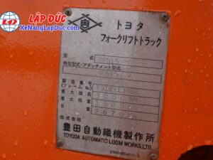 Xe Nâng Máy Xăng 1500kg TOYOTA 4FG15 15